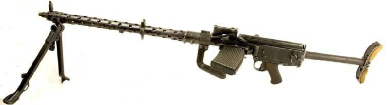 Ручной пулемет MG-13 Dreyse со сложенным прикладом