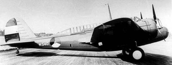 Бомбардировщик Martin Model 139WH-3