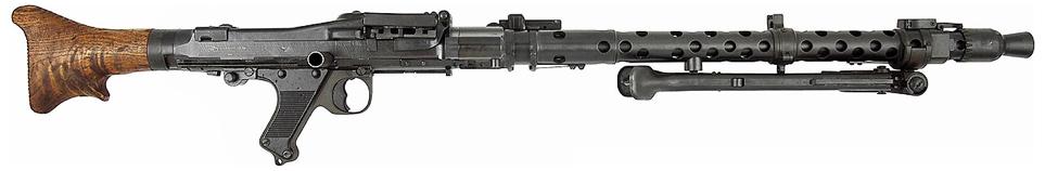 Ручной пулемет MG-34 со сложенными сошками