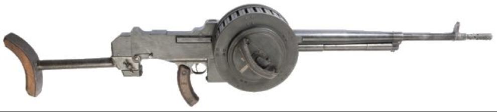 Пулемет MAC Model 1931 с дисковым магазином