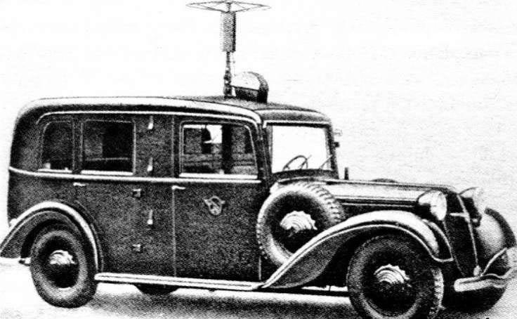 Рисунок подвижного радиопеленгатора на базе «Adler-Diplomat»