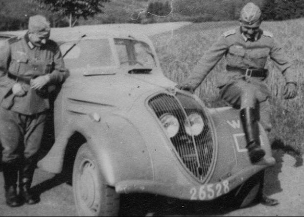 Peugeot-402 на службе Вермахта
