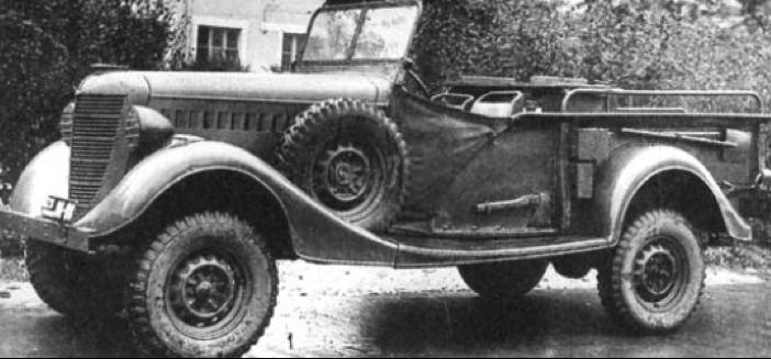 Артиллерийский тягач-пикап ГАЗ-61-417