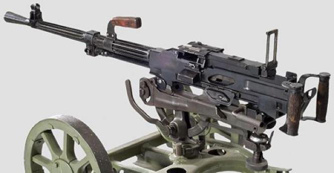 Cтанковый пулемет СГ-43 без щита