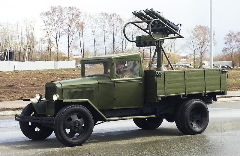 ГАЗ-АА со счетверенной зенитной пулеметной установкой М-4