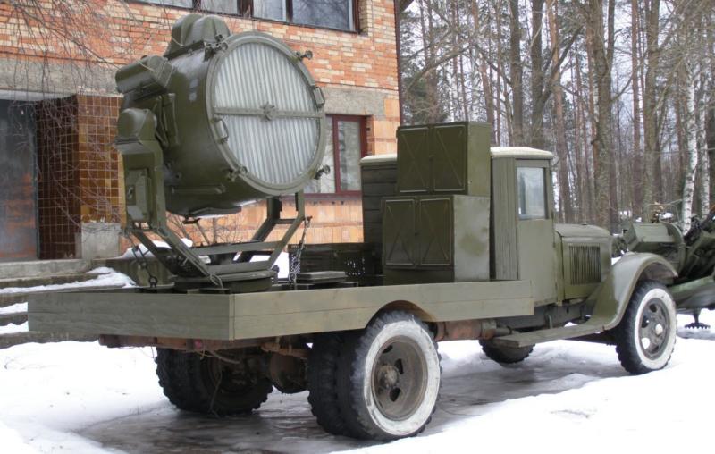 Зенитный прожектор на ЗиС-12