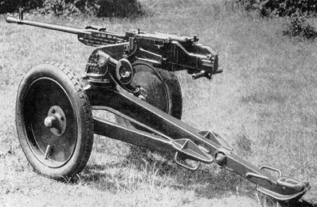 Крупнокалиберный пулемет ZB-60 на пехотном станке