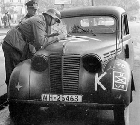 Renault Juvaquatre на службе Вермахта