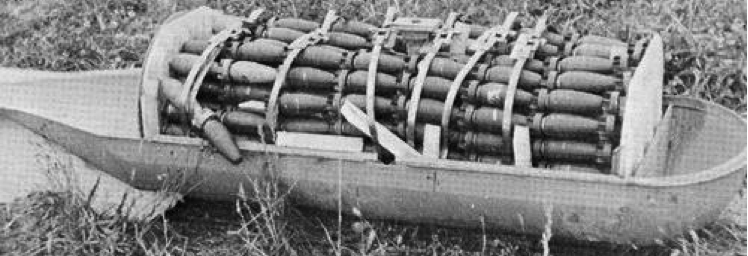Контейнер (кассетная бомба) типа АВ-500 снаряженный 118 элементами SD-4
