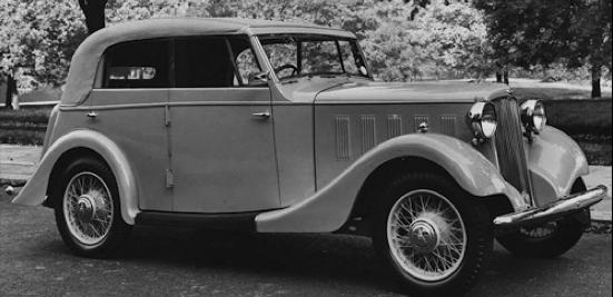 Кабриолет Hillman 16-hp