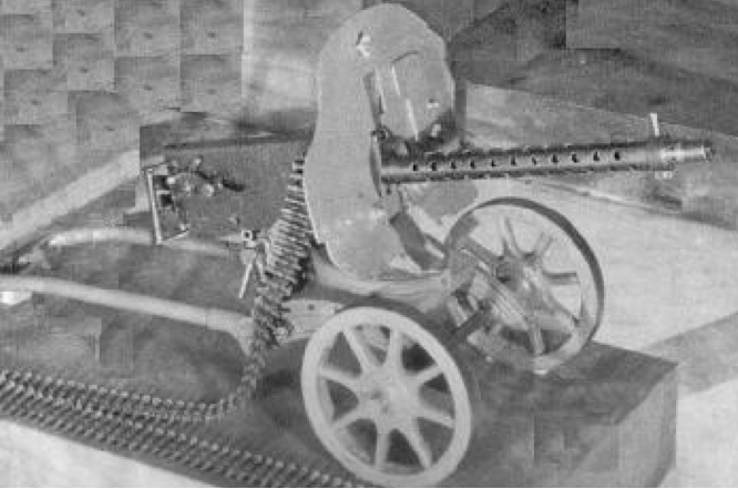 Зенитная установка на базе ПВ-1 на станке Соколова