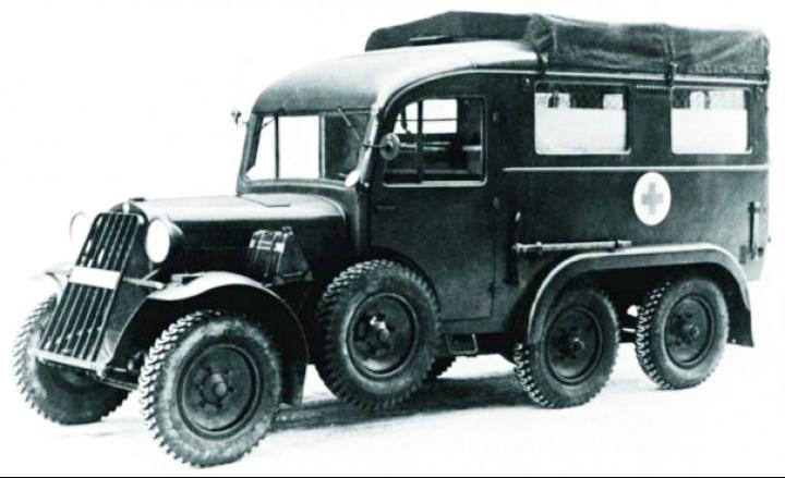 Санитарная машина на базе грузовика Steyr-640 (40-D)