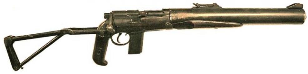 Карабин De Lisle Commando с пистолетной рукояткой и складным прикладом