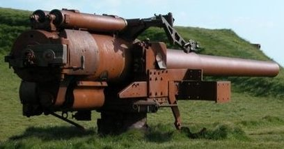 орудие BL-5.5 inch Mk-I в береговой обороне