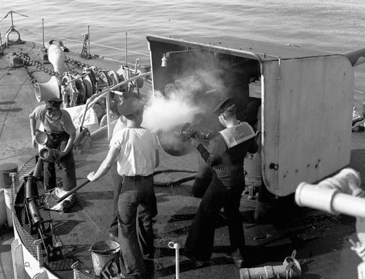 Корабельное орудие BL-4 inch Mk-IX