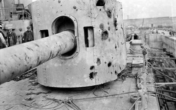 Корабельное орудие BL-6 inch Mk-XII в одноорудийной башне
