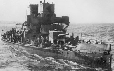 """канонерская лодка «Aphis» с орудием 6""""/ 50 BL Мk-XIII в одноорудийной башне"""