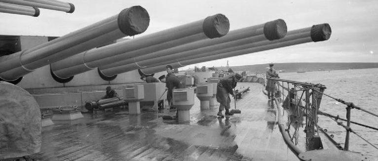 орудие BL-14 в четырехорудийной башне Мk-III