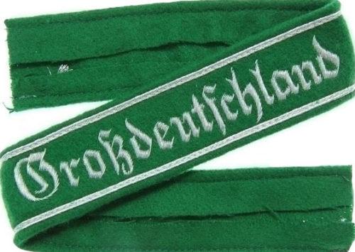 Нарукавная офицерская лента дивизии «Великая Германия».