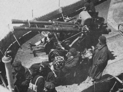 Зенитная пушка Cannone-Mitragliera 37-мм/54 mоd. 1932 c водяным охлаждением