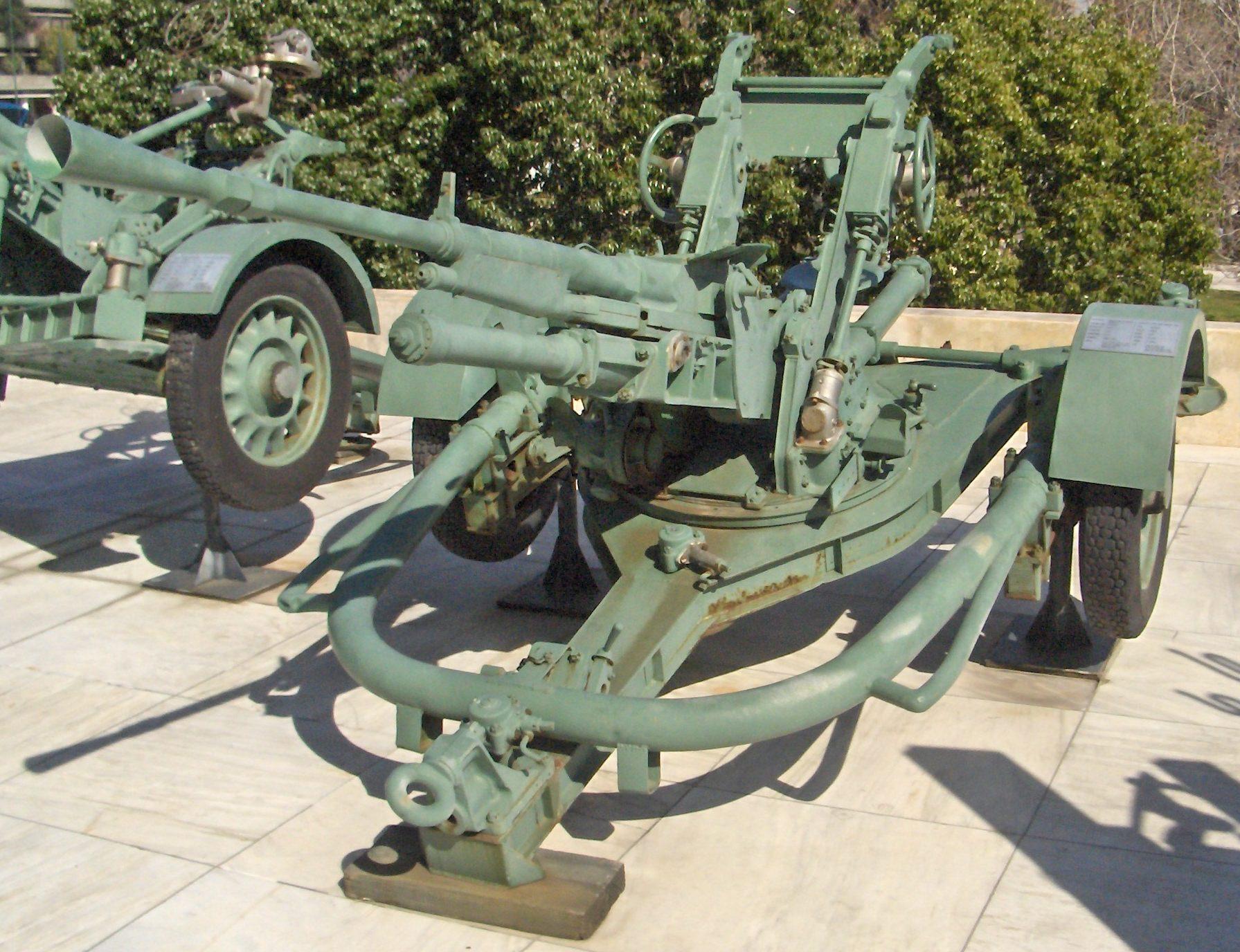 одноствольная зенитная  пушка Hotchkiss