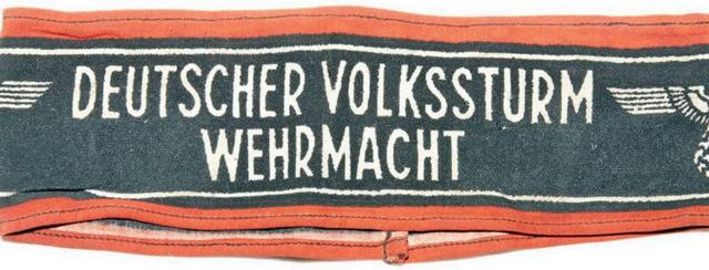 Нарукавные повязки фольксштурма (Deutsher volkssturm wehrmacht)