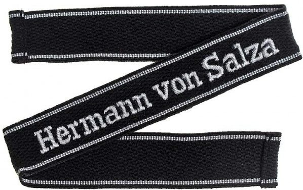 Нарукавная офицерская лента 11-й танковый батальон СС «Герман фон Зальца»