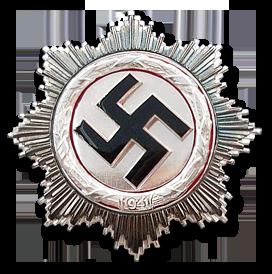 Немецкий крест в серебре. II степень.
