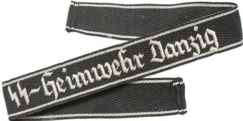 Нарукавная офицерская лента штандарта «SS-Heimwehr Danzig».