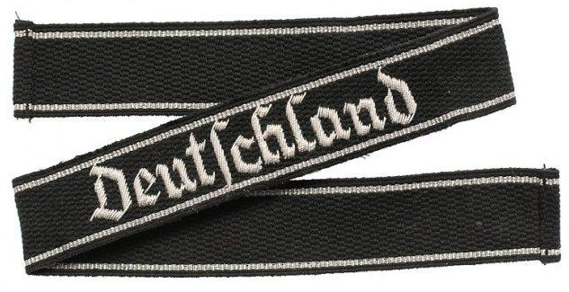 Нарукавная офицерская лента штандарта СС «Deutschland»