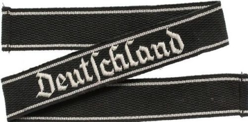 Нарукавная офицерская лента штандарта СС «Deutschland».