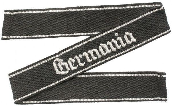 Нарукавная офицерская лента штандарта СС «Germania»