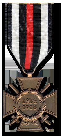 Почетный крест за мировую войну 1914-1918 с мечами. Всего было награждено 6,2 млн. фронтовиков.