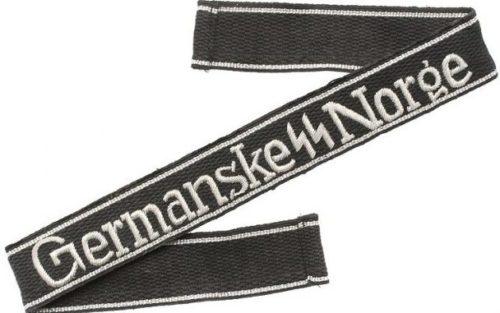 Нарукавная офицерская лента «Германские СС Норге».