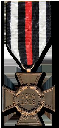 Почетный крест за мировую войну 1914-1918 без мечей. Всего было награждено 1,21 млн. человек.