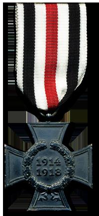 Почетный крест за мировую войну 1914-1918. Всего было вручено 345 тысяч крестов вдовам и около 373 тысячи крестов родителям погибших.