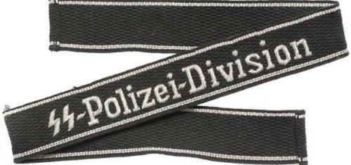 Нарукавная офицерская лента 4 полицейской дивизии СС.