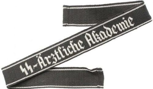 Нарукавная офицерская лента СС «SS Аrztliche Academie».