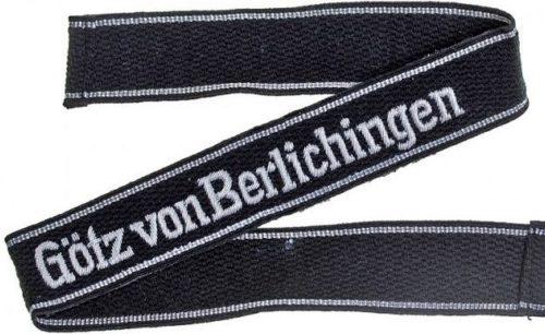 Нарукавная офицерская лента танковой гренадерской дивизии СС «Gоtz von Berlichingen».