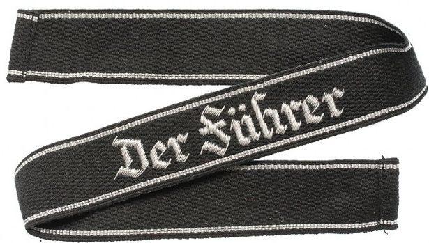 Нарукавная офицерская лента штандарта СС «Der Fuhrer»