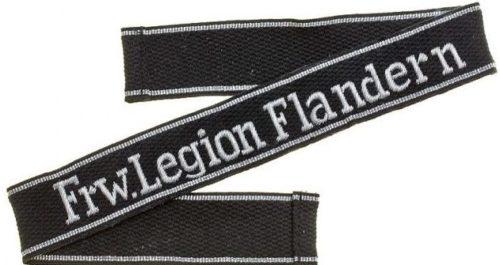 Нарукавная офицерская лента добровольческого легиона «Фландрия».