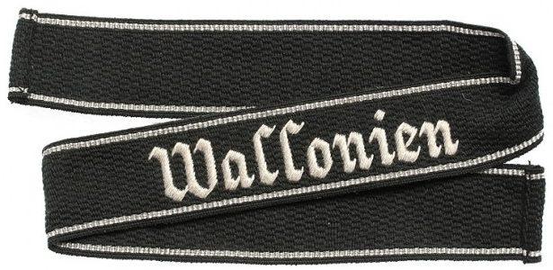 Нарукавная солдатская лента 28 добровольческой танково-гренадерской бригады СС «Валлония»