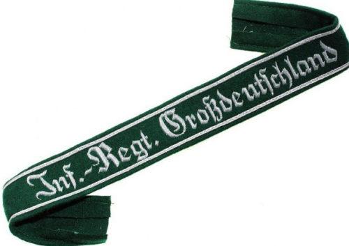 Нарукавная офицерская лента полка «Великая Германия».
