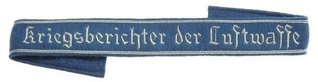 Нарукавная офицерская лента «Военный корреспондент Люфтваффе»