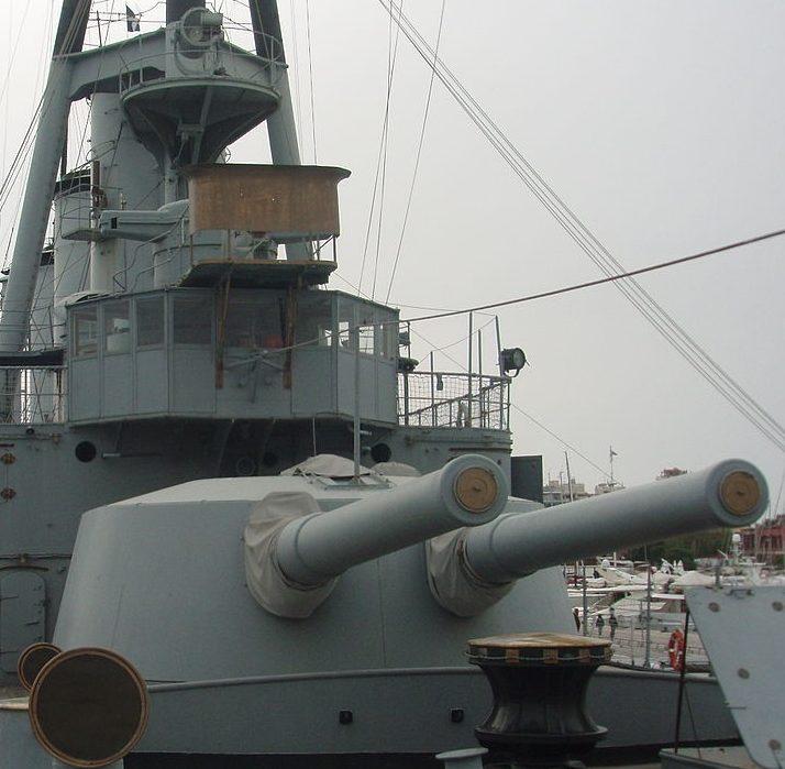 Корабельное орудие BL 9.2 inch Mk-XIV, установленное на крейсере «Georgios Averof».
