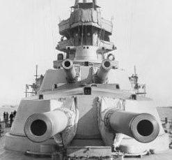 Корабельное орудие BL-15 inch Mk-I в двухорудийной установке