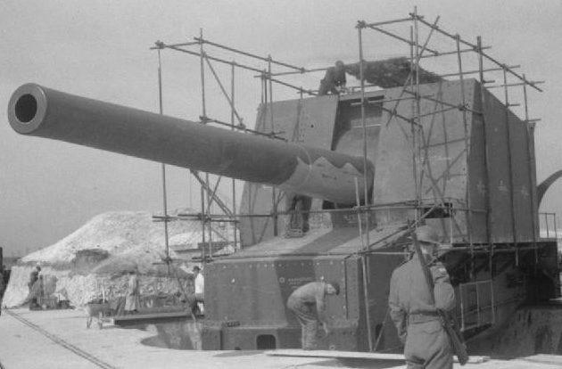 Береговое орудие BL-15 inch Mk-I в одноорудийной установке