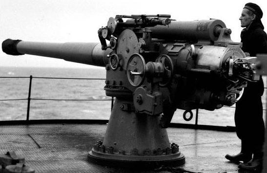 Корабельное орудие BL-4 inch Mk-VII