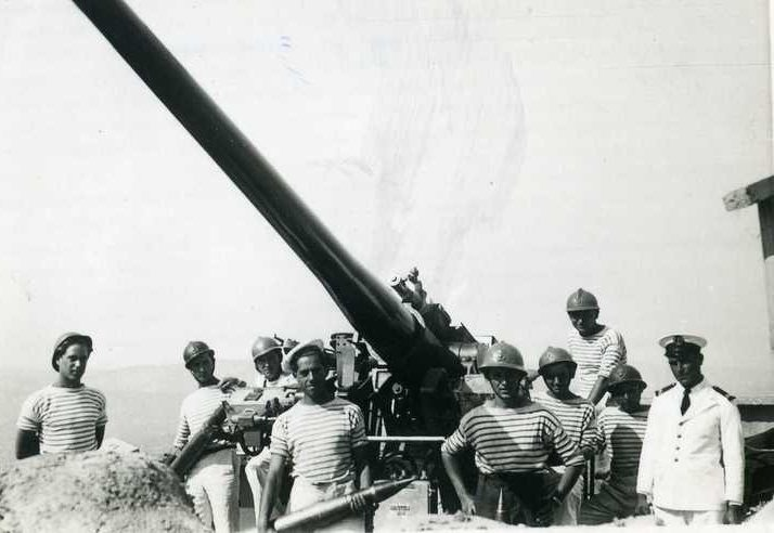 Корабельная зенитная 90-мм пушка Mle1939 (Schneider)