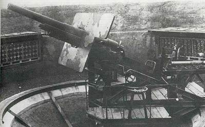 Стационарная зенитная 90-мм пушка Mle1939 (Schneider)